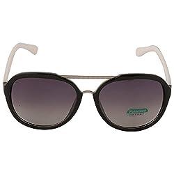 Eyeland Non-Polarized Aviator Sunglasses (Black, EYE245)