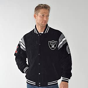 Officially Licensed NFL Oakland Raiders Suede Jacket - (Medium) by G-111
