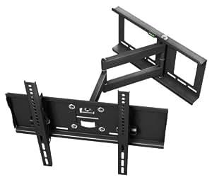 """Ricoo ® TV Wandhalterung R23 schwenkbar neigbar Plasma LCD LED Wandhalter für Fernseher mit 76 - 165cm (30 - 65"""") VESA universell passend fuer alle TV-Hersteller *** Ultra-Slim Variante mit Wandabstand nur 107 mm ***"""