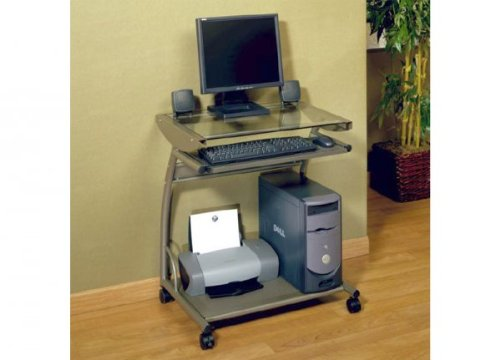 Buy Low Price Comfortable Sauder Woodworking / Beginnings Computer Cart (Silver) (29.764″H x 26.496″W x 20.512″D) (B004379IYU)