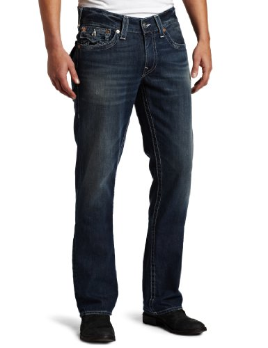 True Religion Men's Ricky Straight Leg Jean in Surfer Dark by True Religion