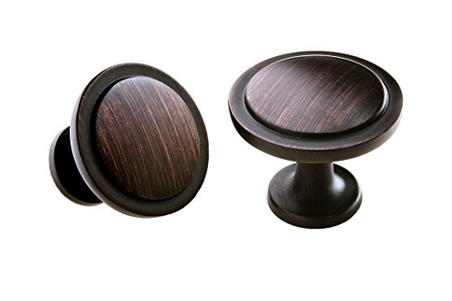 Solid Cabinet Knobs 30 (PACK) OIl Rubbed Bronze W/ Screws For Doors And Drawers W/ 100 Sounds Dampening Soft Close Bumpers (Rustic Metal Knobs compare prices)