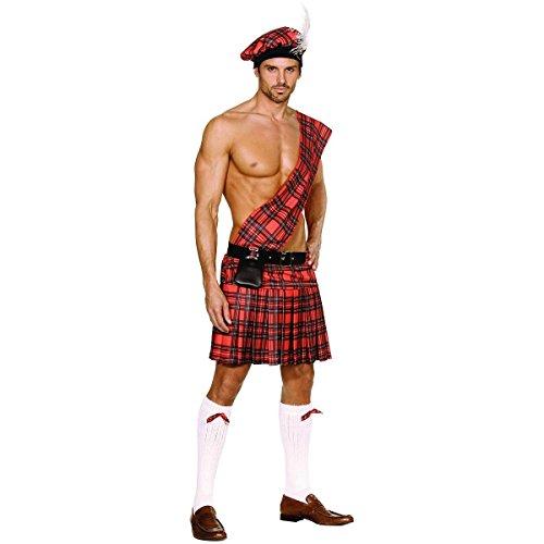 GSG Scottish Costume Adult Mens Kilt Braveheart Halloween Fancy Dress (Scottish Girl Halloween Costume)