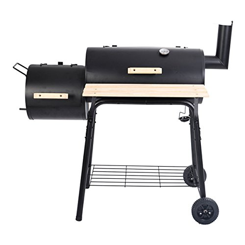 Goplus Outdoor BBQ Grill Charcoal Barbecue Pit Patio Backyard Meat Cooker Smoker (Bullet Bbq Grill compare prices)