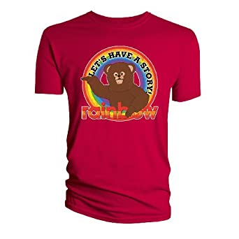 Rainbow Tell A Story Red Mens T-Shirt Small