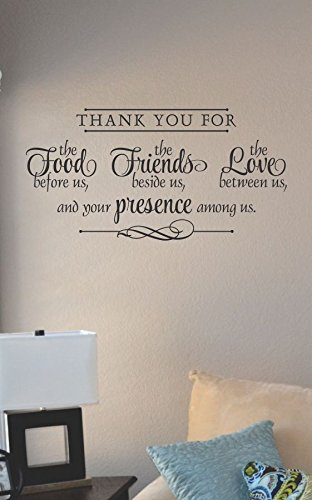 Thank You For The Food The Friends The Love Vinyl Wall Art Decal Sticker front-251245