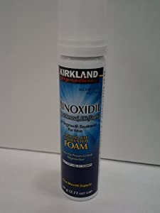 NEW - Kirland Minoxidil For MEN Hair Growth Treatment Uncented 6 Month Supply Topical Aerosol 5% (FOAM), (Compare to Men's Rogaine's Active Ingredient)