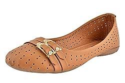 Shopoholics Womens Beige Napa Leather Bellies 1272-C4 8 UK