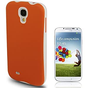 CaseMore Gesturez Orange Removable Plastic Frame + TPU Combination Case for Samsung Galaxy S4 S IV i9500