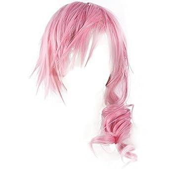 Final Fantasy XIII_Lightning_Smoking Pink_Middle-length curly kanekalon wig