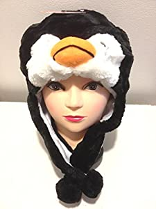 Cartoon Animal Penguin Plush Warm Cap/Hat Party Costume by BELSTAF