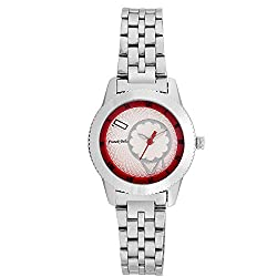 Franck Bella Casual Series Exclusively Designed Dial With Silver Case Analog White Dial Womens Watch-FB0179A