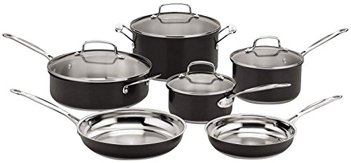 Cuisinart Black Steel 10 Piece Cookware Set