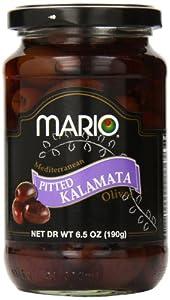 Mario Camacho Foods Pitted Kalamata Mediterranean Olives, 6.50 Ounce