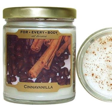Cinnavanilla Cinnamon Vanilla - For Every Body Candles - 7oz Candle In Glass Jar