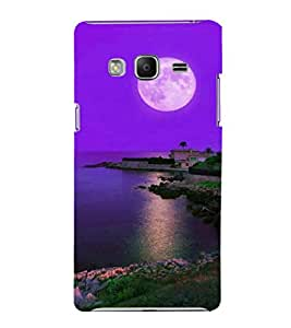 printtech Moonlight Nature Sea Back Case Cover for Samsung Z3 :: :Samsung Z300H/DD