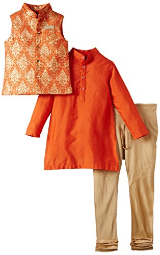 Maya Kidology In-House Collection By Maya Nocon Boy's Sherwani (Multicolor)