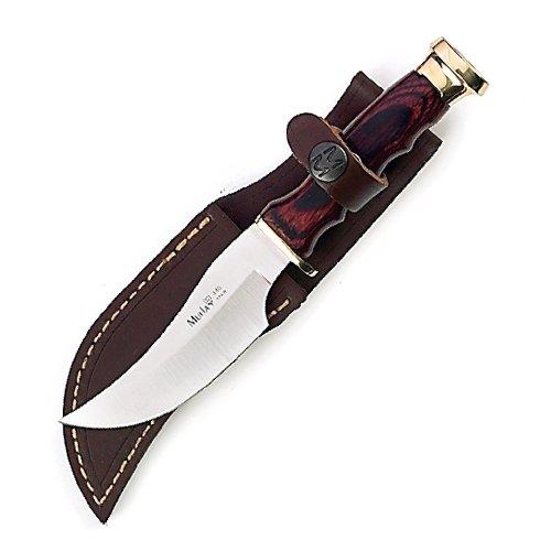 Muela 7.75-Inch Fixed Blade Skinner Knife, Packawood Handle, Brass