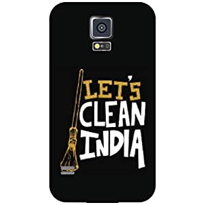 Samsung Galaxy S5 Back Cover - Let's Clean India Designer Cases