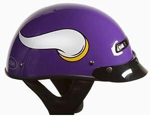 Brogies Bikewear NFL Minnesota Vikings Motorcycle Half Helmet (Purple, Large) by Brogies Bikewear