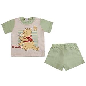 Disney - Conjunto de manga corta con cuello redondo para bebé