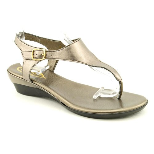 Callisto Miranda Womens Size 10 Bronze Open Toe Wedge Sandals Shoes,