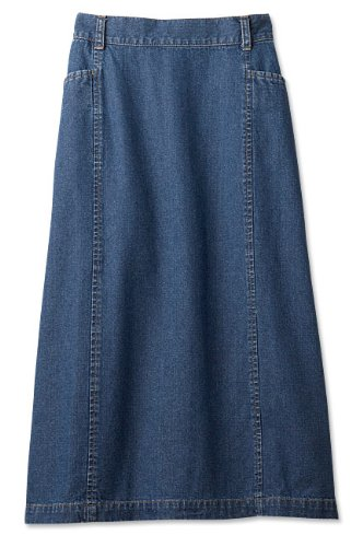 Vintage Denim L-pocket Skirt / Vintage Denim L-pocket Skirt - Only Sale Color(s) Dark Indigo, Dark Indigo, 16