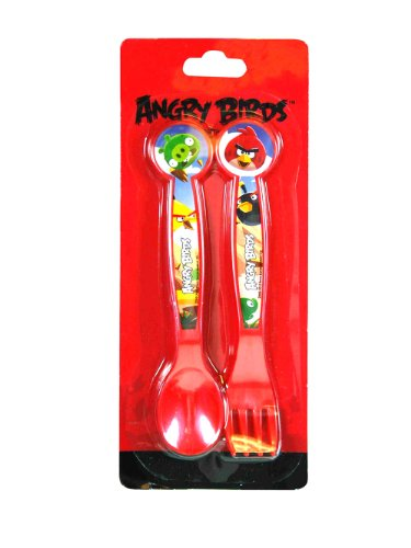 Angry Birds Toddler Fork and Spoon (Utensils) - 1