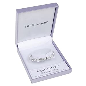 """Zentosa Jewellery Messages Silver-Plated """"Mother by Chance"""" Bangle"""