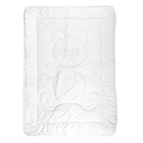 Tadpoles Toddler Comforter, Teddy Pattern/White (Down Alternative Baby Comforter compare prices)