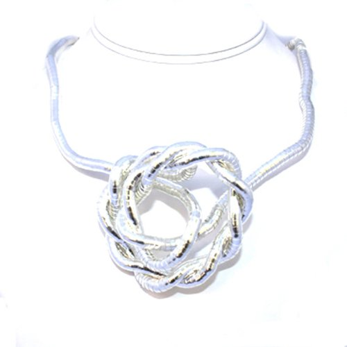 Make Your Own 6mm Flexible Bendable Snake Rope Silver Necklace 34