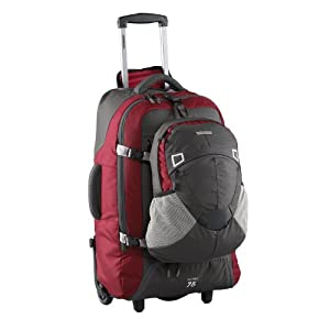 Fast Track 75 Travel Pack/ Wheeled Rucksack (red/charcoal)