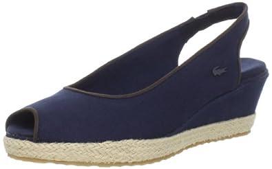 (顶级)法国鳄鱼拉科斯特休闲凉鞋 Lacoste Women's Chantemr2 Slingback  蓝$50.15