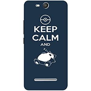 Casotec Sleep Pattern Design Hard Back Case Cover for Micromax Canvas Juice 3 Q392