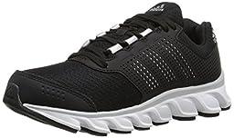 adidas Performance Powerblaze 2 K Running Shoe (Little Kid/Big Kid), Black/Silver Metallic/White, 3.5 M US Big Kid