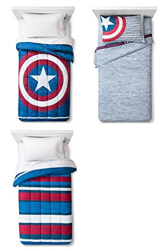 Marvel Captain America Reversible Comforter, Sheets and Pillow Case 4-pc. Set - Kids (Captain America In Bedding compare prices)