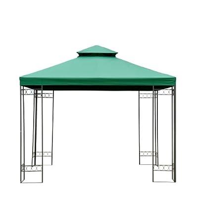 Ersatzdach Dach für Metall Gartenpavillon Pavillon Partyzelt Gartenzelt 3x3m grün NEU von hergestellt für Outsunny auf Gartenmöbel von Du und Dein Garten