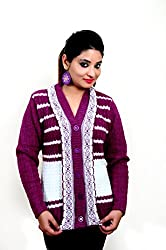 Laadli Ji Women's Wool Cardigan (v9_Pink_Free Size)