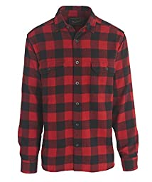 Woolrich Men\'s Oxbow Bend Flannel Shirt, Old Red Buffalo, Medium