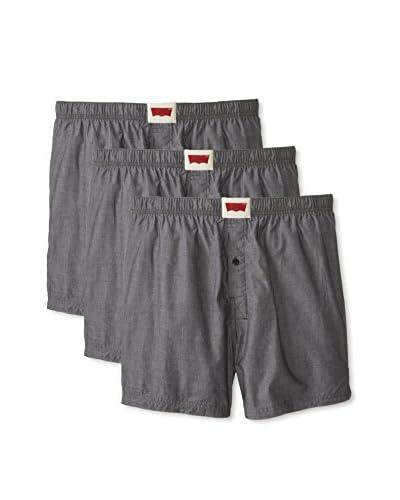 Levi's Men's Chambray Woven Boxer - 3 Pack
