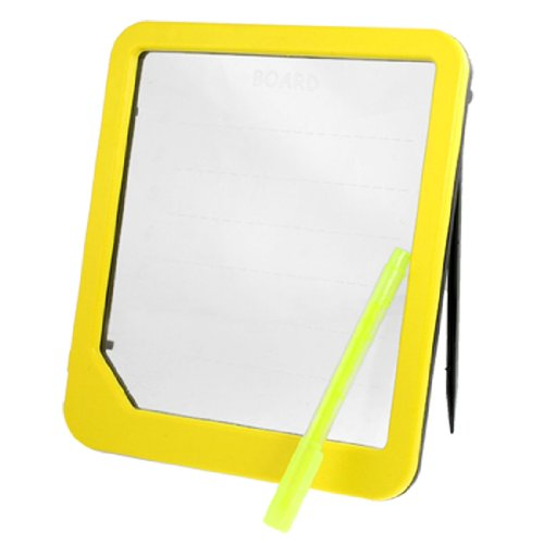 Yellow Frame Blue Light Luminous Led Message Text Memo Rose Print Board