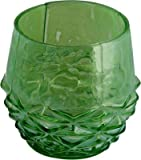 Sutra Decor Green Carving Votive Tealight Candle Holder
