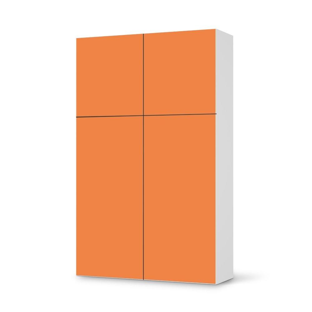 Folie IKEA Besta Schrank Hochkant 4 Türen (2+2) / Design Aufkleber Orange 2 / Dekorationselement jetzt bestellen