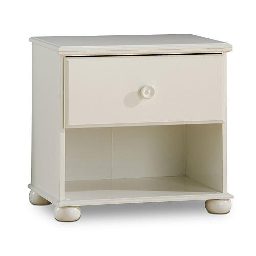 South Shore Sand Castle Night Table Pure White front-843428