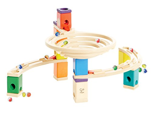 hape-quadrilla-wooden-marble-run-builder-roundabout-high-quality-wooden-safe-play-smart-play-for-sma