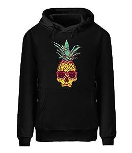 Batman Dream Men's casual fleece hoodie cool pineapple skull