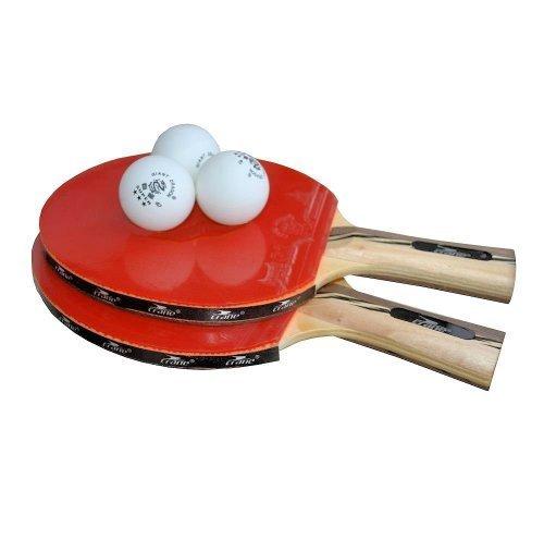 Tischtennis-Schläger-Set - 2 Schläger in Turnier-Qualität inkl. 3 Tischtennisbällen in 3-Stern-Qualität ..