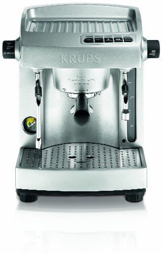 KRUPS XP618050 Full Stainless Steel Twin Thermo Block Professional Espresso Machine, Silver