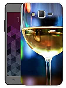 "Humor Gang Half Full Wine Glass Printed Designer Mobile Back Cover For ""Samsung Galaxy Mega 5.8"" (3D, Matte, Premium Quality Snap On Case)"