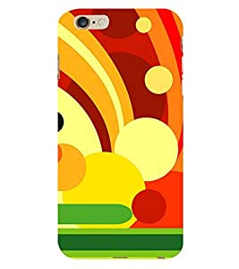 99Sublimation Animation Colourful Circle Pattern 3D Hard Polycarbonate Back Case Cover for Apple iPhone 6 Plus